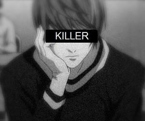 death note, killer, and kira image