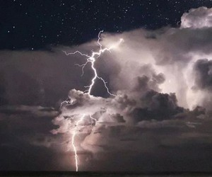 clouds, thunder, and sky image
