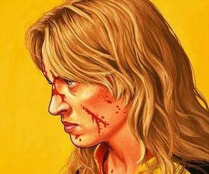 kill bill, uma thurman, and blood image