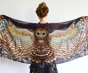 owl, fashion, and wings image