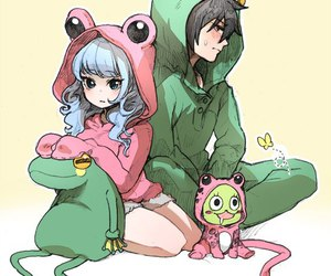 gruvia, fairy tail, and frog image