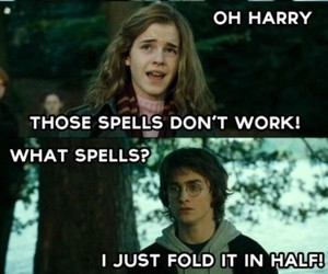harry potter, funny, and hermoine image