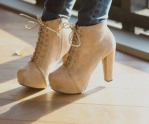 beige, boots, and jeffrey campbell image