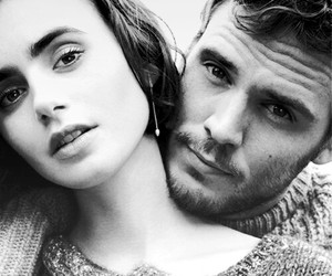 lilly collins and sam claflin image