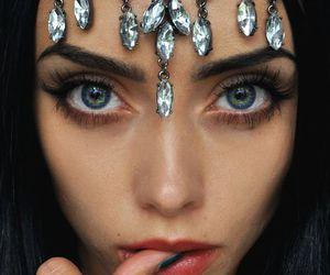 girl, eyes, and model image