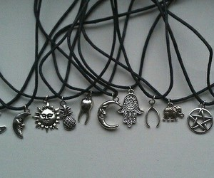 necklace, grunge, and sun image