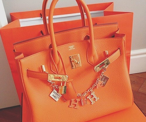 hermes, bag, and orange image