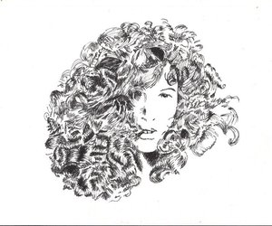 art, curly, and beauty image