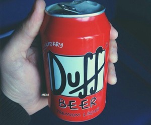 beer, Duff, and the simpsons image