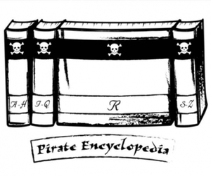 encyclopedia and pirate image