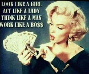 boss, lady, and Marilyn Monroe image