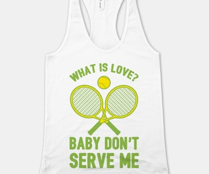 funny t shirts, tennis shirt, and haddaway image