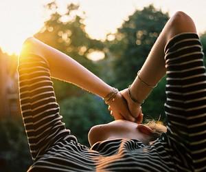 girl and sun image