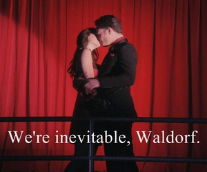 blair waldorf, chuck bass, and inevitable image