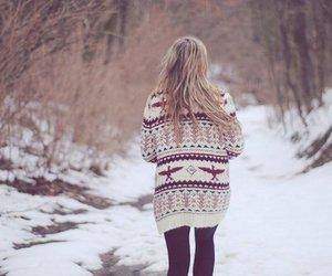 beautiful, girl, and winter image