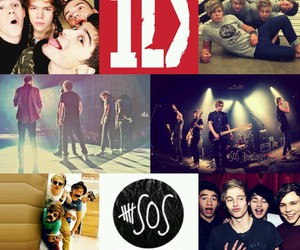 5sos, 1d, and one direction image