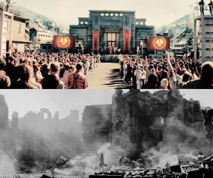 mockingjay, district 12, and capitol image