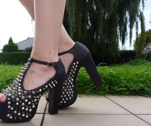 jeffrey campbell, studded, and spiked heels image