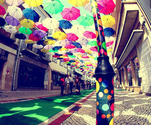 umbrella, portugal, and colors image