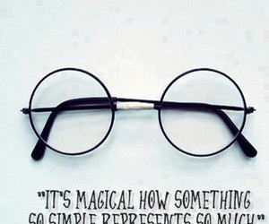 film, glasses, and harry potter image
