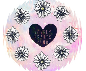 club, flowers, and galaxy image