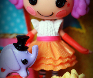 doll, peanut, and mini lalaloopsy image