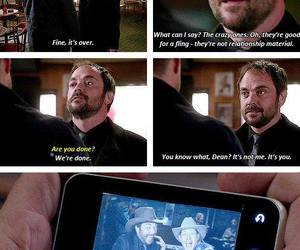 crowley, dean winchester, and supernatural image