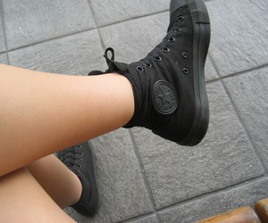 all star, converse, and girls image