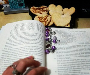 book, Cookies, and heart image