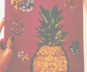 art, fruit, and hippie image