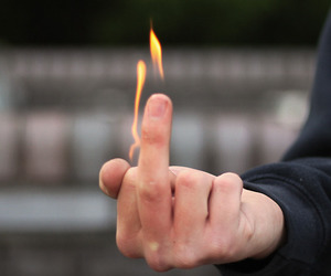 fire, fuck you, and boy people image