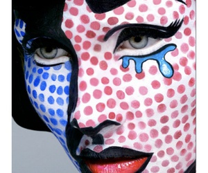 art, make up, and pop art image