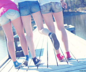 converse, girls, and legs image