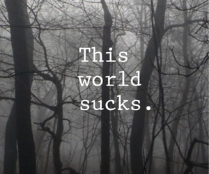 world, sad, and sucks image