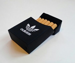adidas, cigarette, and smoke image
