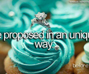 propose, ring, and cupcake image