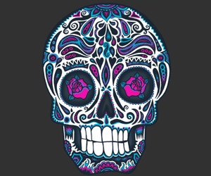 apparel, calavera, and ornate image