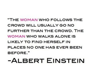 quote, woman, and Albert Einstein image