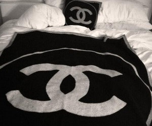 chanel, bed, and luxury image