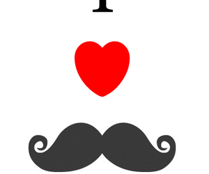 heart, i, and mustache image