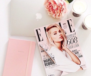 Elle, pink, and flowers image