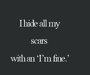 scars, quotes, and sad image