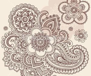 blanck and white, henna, and draw. image