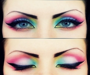 different, makeup, and neon image