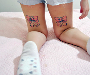 tattoo, cute, and girl image