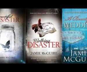 beautiful disaster, walking disaster, and books image