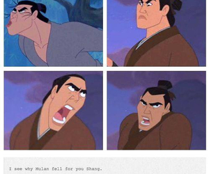 disney, mulan, and funny image