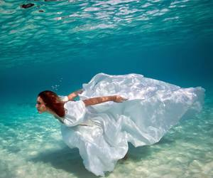 underwater, dress, and water image