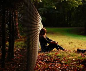 girl, alone, and lonely image