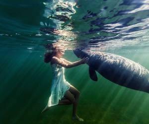 elena kalis and underwater image